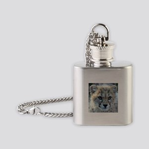 Cheetah Cub Flask Necklace