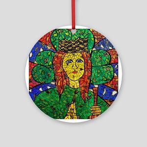 St. Dymphna Ornament (Round)