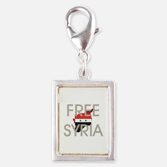 Free Syria Silver Portrait Charm