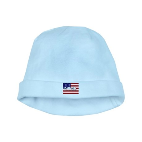 MMA USA Flag White Text copy baby hat