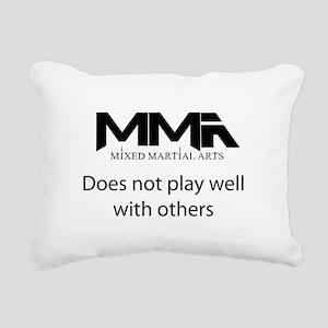 MMA Not Play Rectangular Canvas Pillow