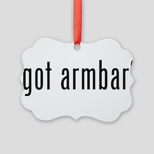 got armbar Picture Ornament