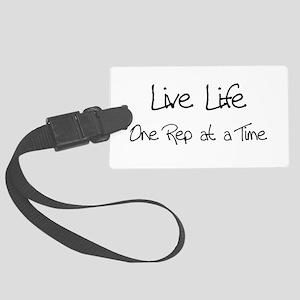 live life black Large Luggage Tag
