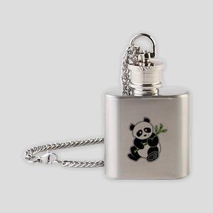 Sitting Panda Bear Flask Necklace