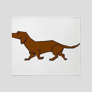 Doxen Dog Throw Blanket