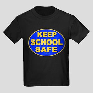 Keep School Safe Kids Dark T-Shirt