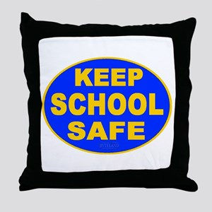 Keep School Safe Throw Pillow