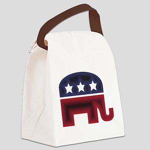 Republican Elephant (C) Canvas Lunch Bag