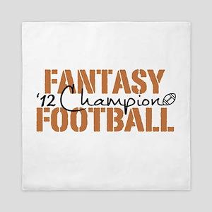 2012 Fantasy Football Champ Queen Duvet