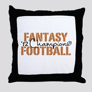 2012 Fantasy Football Champ Throw Pillow