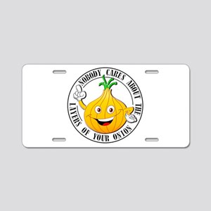 Layers of the Onion Aluminum License Plate