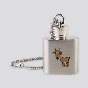Cute Billy Goat Flask Necklace