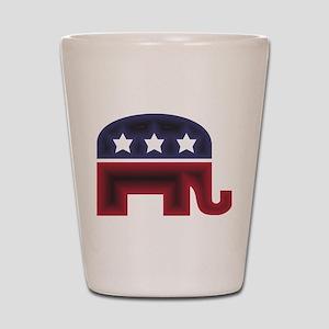 Republican Elephant (C) Shot Glass