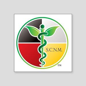 """SCNM Medicine Wheel Logo Square Sticker 3"""" x"""