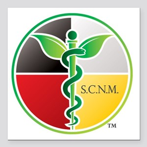 "SCNM Medicine Wheel Logo Square Car Magnet 3"""