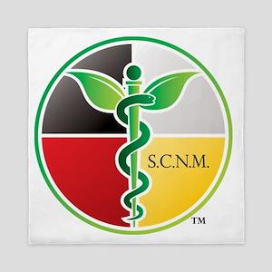SCNM Medicine Wheel Logo Queen Duvet