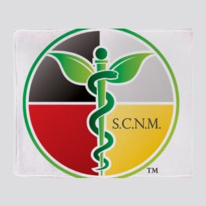SCNM Medicine Wheel Logo Throw Blanket
