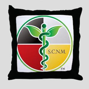 SCNM Medicine Wheel Logo Throw Pillow