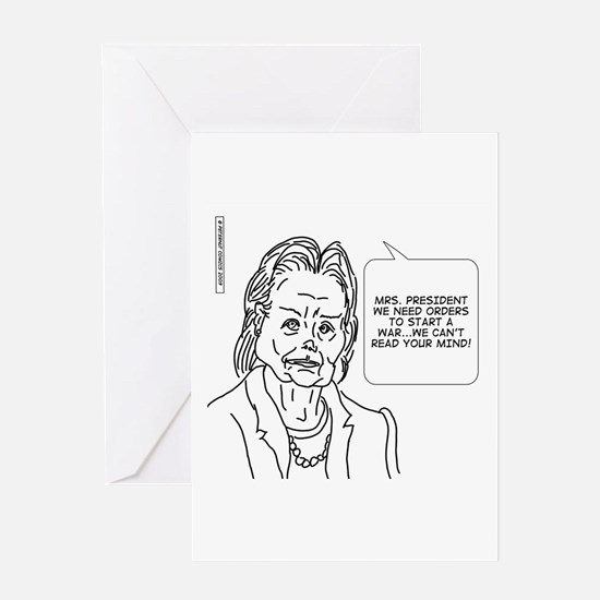 Cute Mind reader Greeting Card