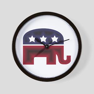 Republican Elephant (C) Wall Clock