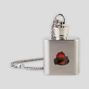 Calcifer on a log Flask Necklace