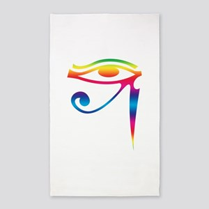 Eye of Horus - Rainbow 3'x5' Area Rug