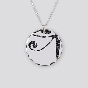 Eye of Horus - Distressed Texture Necklace Circle