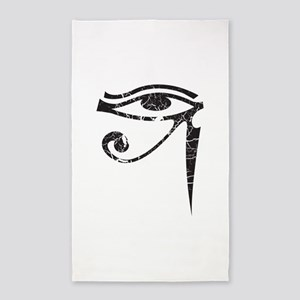 Eye of Horus - Distressed Texture 3'x5' Area Rug