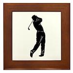 golf shadow.jpg Framed Tile