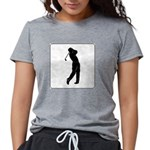 golf shadow.jpg Womens Tri-blend T-Shirt