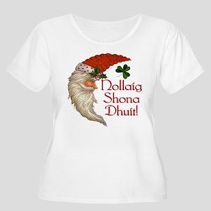 santacrescdark Plus Size T-Shirt