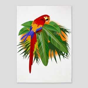 parrot 5'x7'Area Rug
