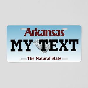 Personalized Arkansas diamond license plate