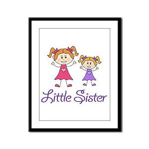 Little Sister with Big sister Framed Panel Print