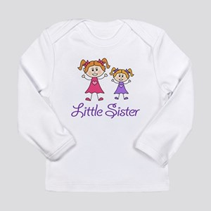 Little Sister with Big sister Long Sleeve Infant T