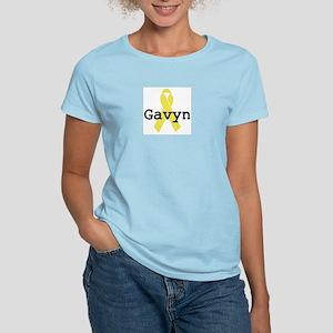 Yellow Ribbon: Gavyn Women's Pink T-Shirt