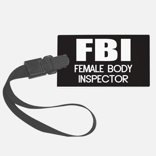 Female Body Inspector Luggage Tag