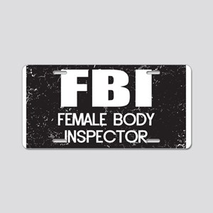 Female Body Inspector - Distressed Texture Aluminu