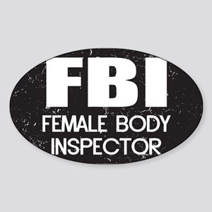 Female Body Inspector - Distressed Texture Sticker