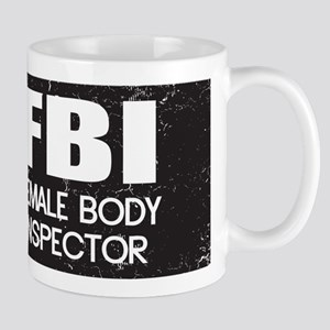 Female Body Inspector - Distressed Texture Mug