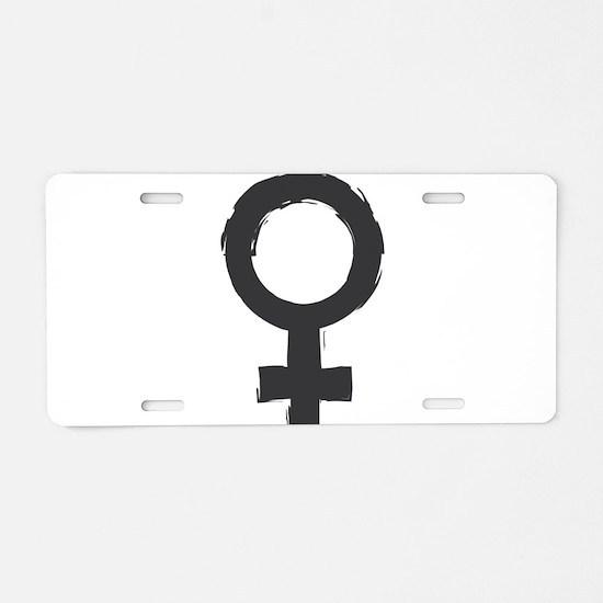 Female Symbol Aluminum License Plate