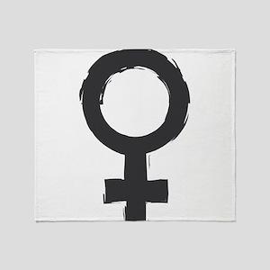 Female Symbol Throw Blanket