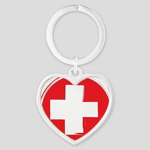 First Aid Heart Keychain
