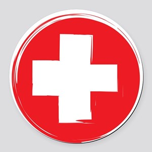 First Aid Round Car Magnet