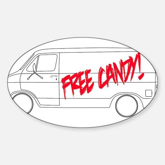 Free Candy! Sticker (Oval)