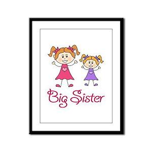 Big Sister with Little Sister Framed Panel Print