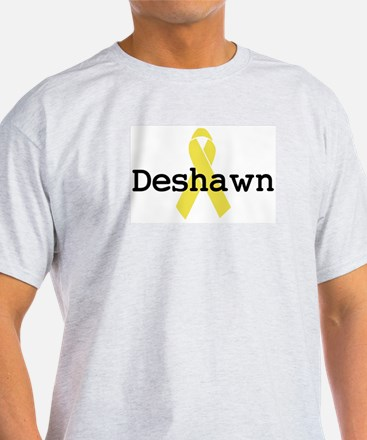 Yellow Ribbon: Deshawn Ash Grey T-Shirt