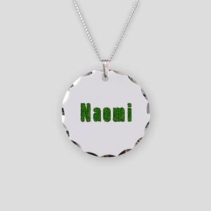 Naomi Grass Necklace Circle Charm