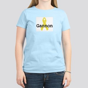 Yellow Ribbon: Gannon Women's Pink T-Shirt