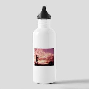 golf sun set Sports Water Bottle